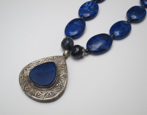 Lapis Teardrop Necklace